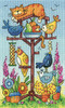 Bird Table Cross Stitch By Heritage