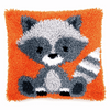 Latch Hook Kit: Cushion: Raccoon By Vervaco