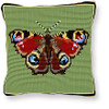 Peacock Butterfly Tapestry cushion kit by Brigantia