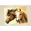 Latch Hook Kit: Rug: Horses by Vervaco