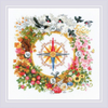 Compass Counted Cross Stitch Kit By Riolis