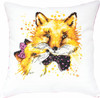 Foxes Pillow Counted Cross Stitch Kit By Luca S