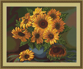 Vase Of Sunflowers Petit Cross Stitch Kit By Luca S