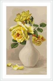 Yellow Roses Petit Cross Stitch Kit By Luca S