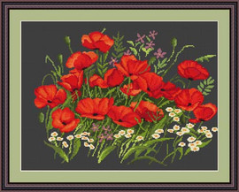 Poppies Ii Petit Cross Stitch Kit By Luca S
