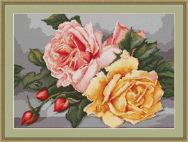 Roses Petit Cross Stitch Kit By Luca S