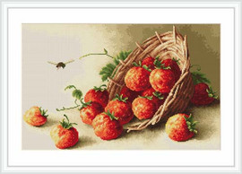 Basket Of Strawberries Petit Cross Stitch Kit By Luca S