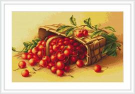 Basket Of Cherries Petit Cross Stitch Kit By Luca S