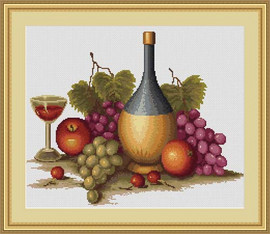 Still Life With Grapes Petit Cross Stitch Kit By Luca S