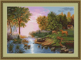 Lakeside Horses Petit Cross Stitch Kit By Luca S