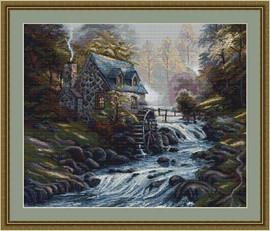 Mill Stream Petit Cross Stitch Kit By Luca S