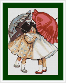 Girls Reconciled Petit Cross Stitch Kit By Luca S