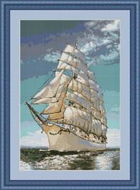 Tall Ship I Petit Cross Stitch Kit By Luca S