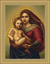 Sistine Madonna Petit Cross Stitch Kit By Luca S