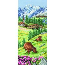 Swiss Alpine Cross Stitch Kit by Anchor