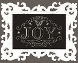 Share Joy Chalk Board Cross Stitch Kit