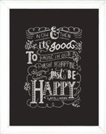 Just Be Happy Cross Stitch Kit By Design Works