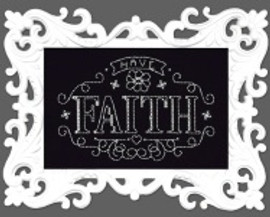 Have Faith Chalkboard Cross Stitch Kit