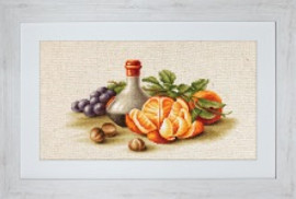 Still Life with Oranges Cross Stitch Kit by Luca-S