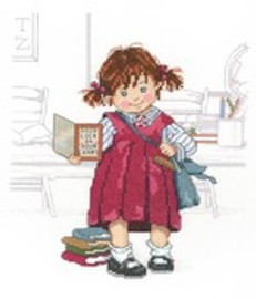 School Girl Cross Stitch Kit by Janlynn