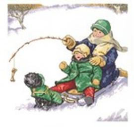 Winter Fun Cross Stitch Kit by Janlynn