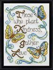 Butterfly Kindness Cross Stitch Kit by Design Works