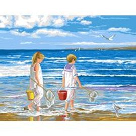 Beach Tapestry Canvas By Royal Paris