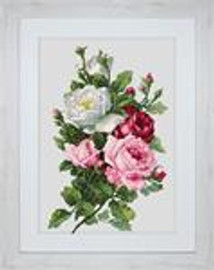 Bouquet of Roses Cross Stitch Kit 16 Count by Luca-s