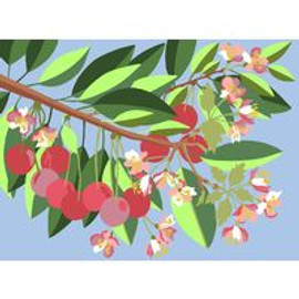 Cherry Tree Tapestry Canvas By Royal Paris