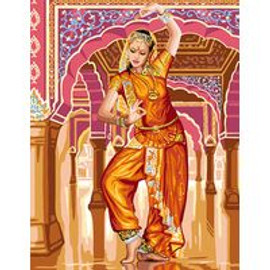 Bollywood Dancer Tapestry Canvas By Royal Paris