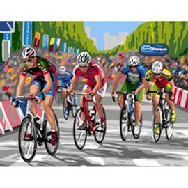 Bike Race Tapestry canvas By Royal Paris