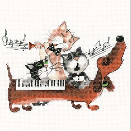 Dachshund Blues Cross Stitch Kit by Riolis