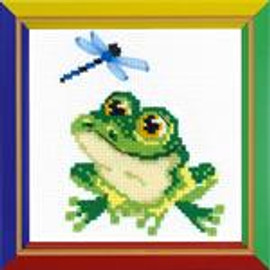 Little Frog Cross Stitch Kit by Happy Bee