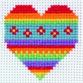 Heart Starter Cross Stitch Kit By Anchor