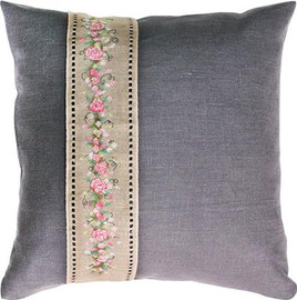 Rose Band Pillow Cross Stitch Kit by Luca-S