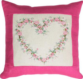 Rose Heart Pillow Cross Stitch Kit by Luca-S