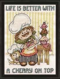 Cupcake Chef Cross Stitch Kit by Design Works