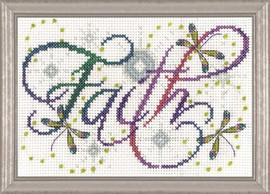Faith Cross Stitch Kit by Design Works