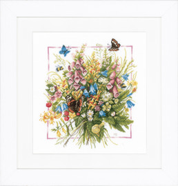 Summer Bouquet Cross Stitch Kit by Lanarte