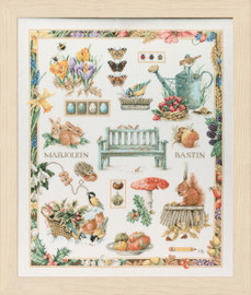 Collage Cross Stitch Kit by Lanarte