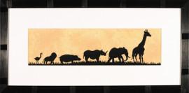 Parade of Wild Animals Cross Stitch Kit (Evenweave) by Lanarte