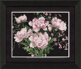 Pink Roses Cross Stitch Kit by Lanarte