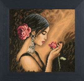 Spanish Beauty Cross Stitch Kit by Lanarte
