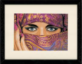 Veiled Women Cross Stitch Kit by Lanarte