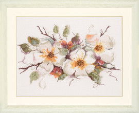 Apple Blossom Cross Stitch Kit by Lanarte