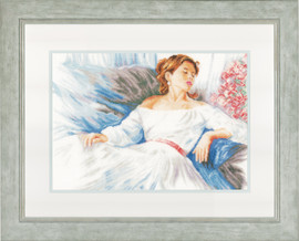 Rhapsody in Blue Cross Stitch Kit by Lanarte