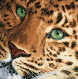 Leopard Cross Stitch Kit by Lanarte