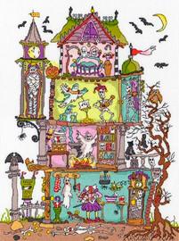 Cut Thru Haunted House Cross Stitch Kit by Bothy Threads