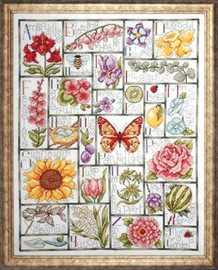 Floral ABC Sampler cross Stitch Kit by Design Works