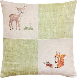 Deer and Squirrel Pillow Cross Stitch Kit by Luca-s